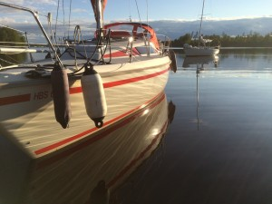 Boat on lake Bolmen