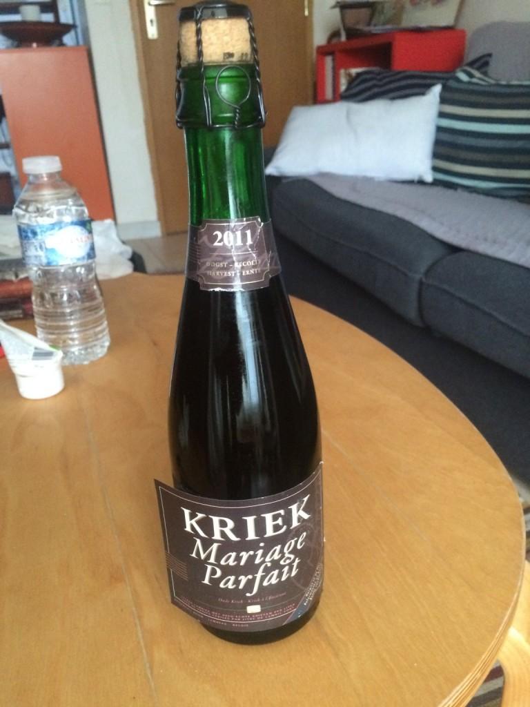 bottle of Boon Marriage Parfait Kriek 2011