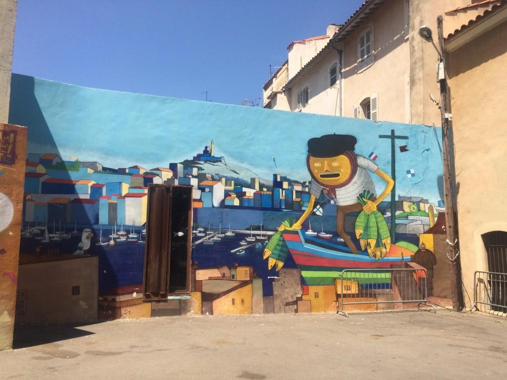 fisherman mural marseille