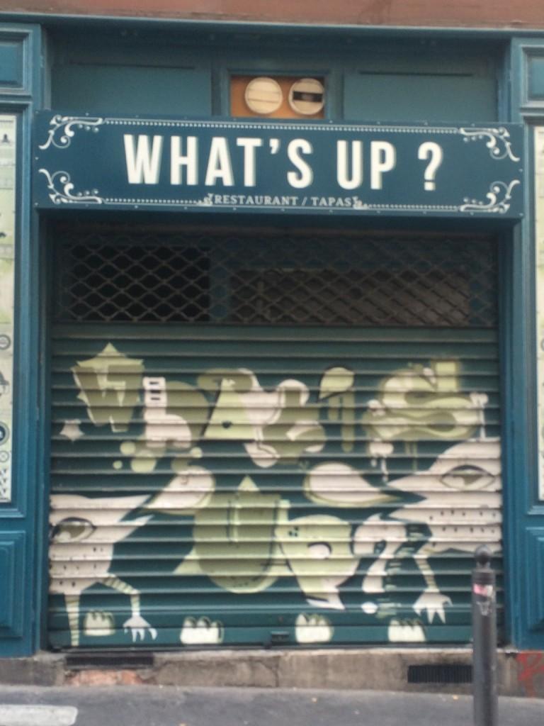 What's Up Restaurant Shutter Marseille