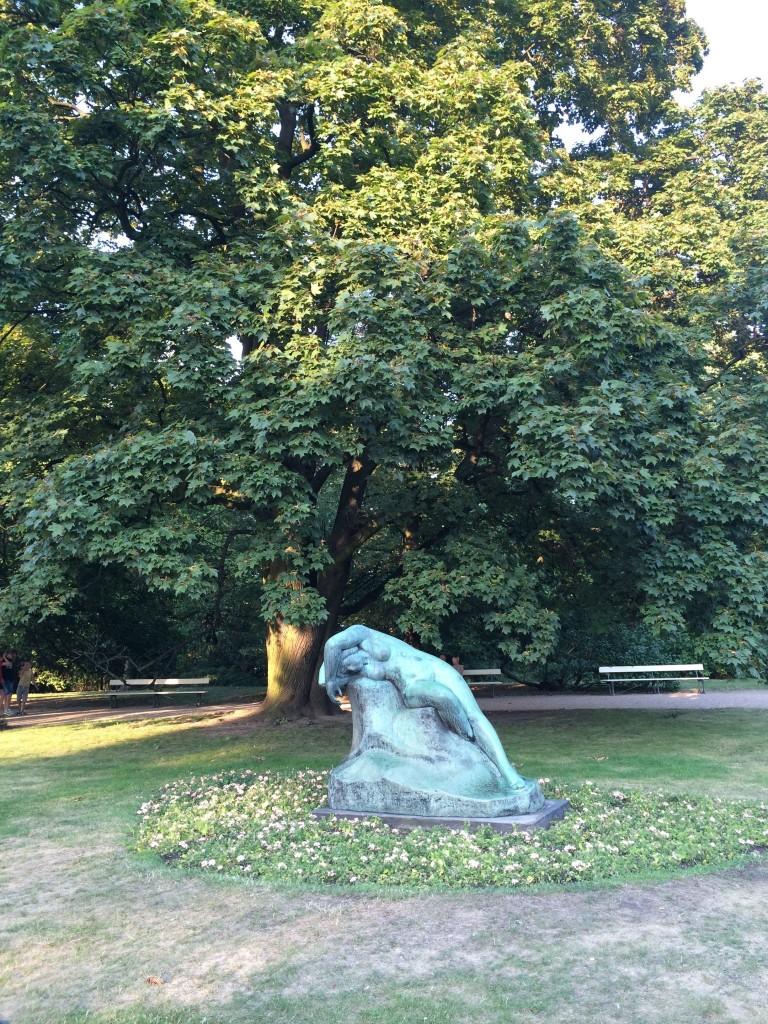 Melting statue
