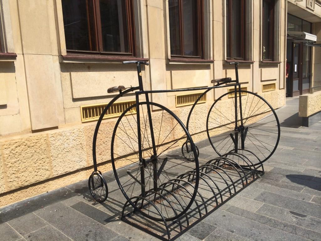 Hipster bike rack