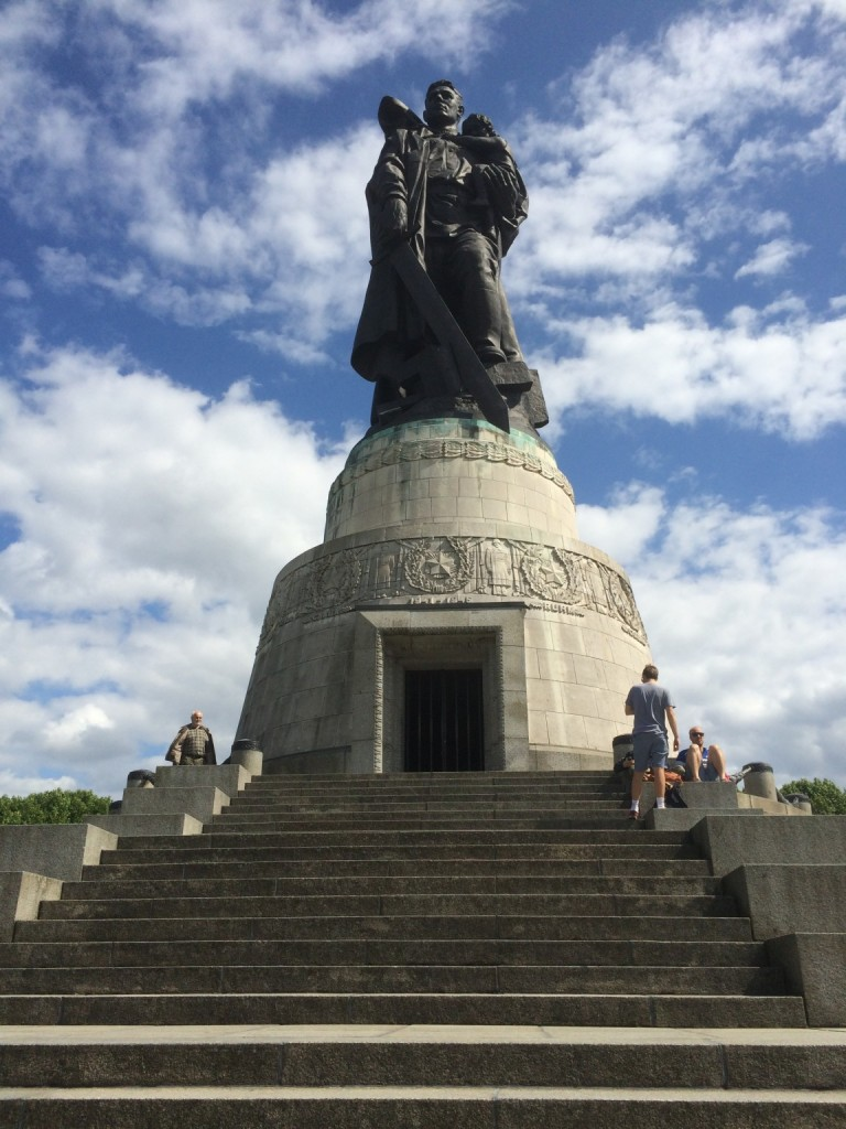 soviet war memorial statue at treptower park, berlin