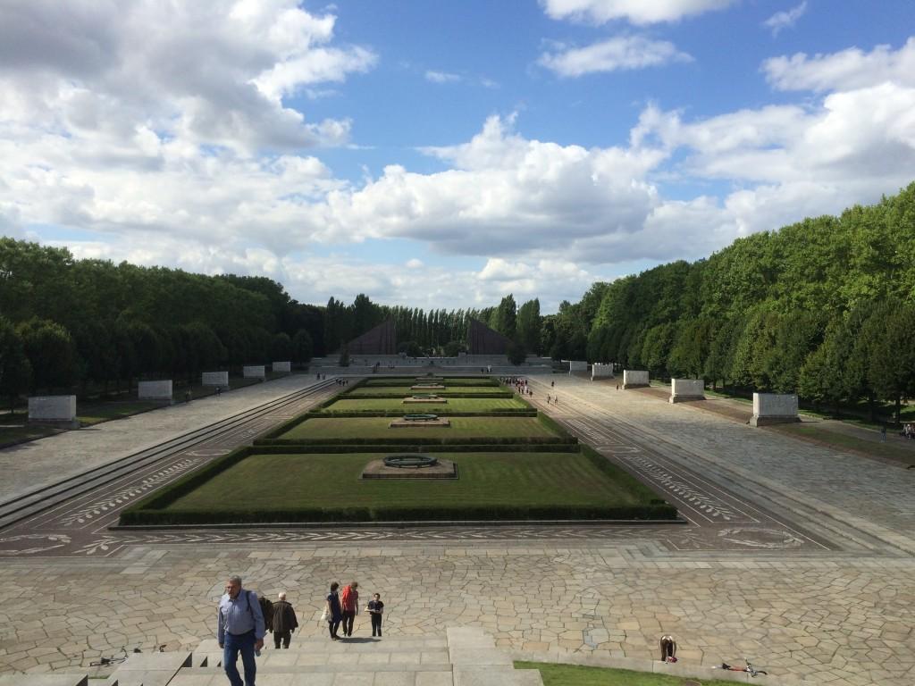 soviet war memorial plaza at treptower park, berlin